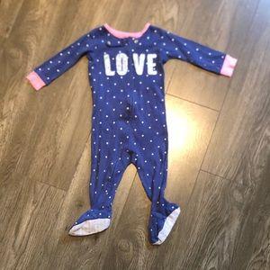LOVE onesie footies 9 months